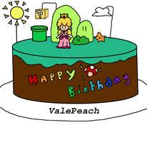 HAPPY BIRTHDAY VALE PEACH !!! by Princess-Peach-64