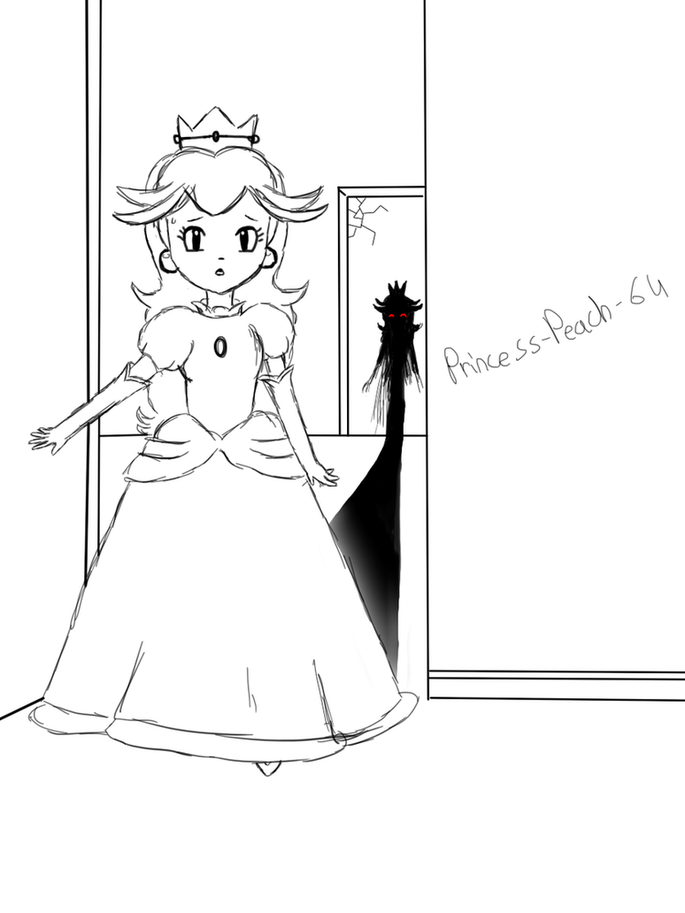 W.I.P. : Peach and the shadow mirror by Princess-Peach-64