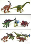 Repainted Toy Dinosaurs