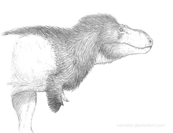 Feathered Tyrannosaur sketch by Osmatar