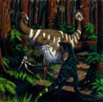 Dinosaur Storybook: Therizinosaur Encounter