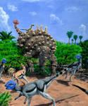 Dinosaur Storybook: Ankylosaur ride