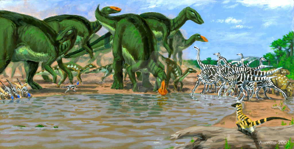 Dinosaur Storybook: at the Water's Edge