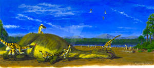 Dinosaur Storybook: Cretaceous Dinner Scene