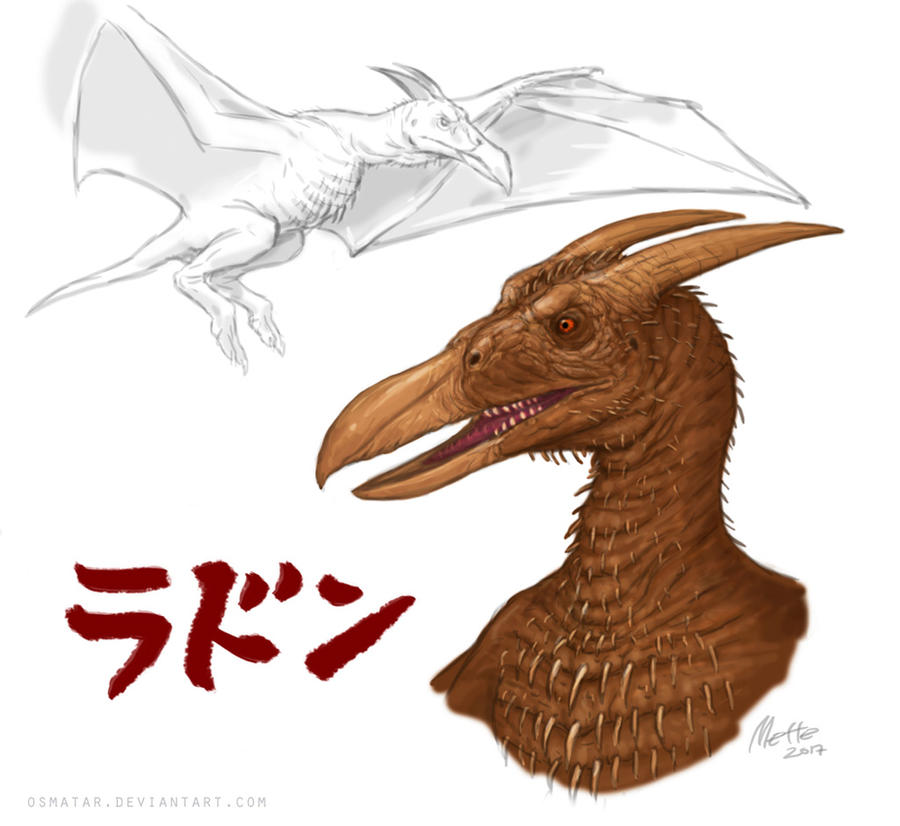 Rodan Redesign by Osmatar on DeviantArt