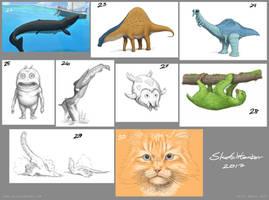 Sketchtember Week 4 by Osmatar