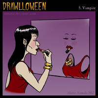 Drawlloween: Vampire by Osmatar