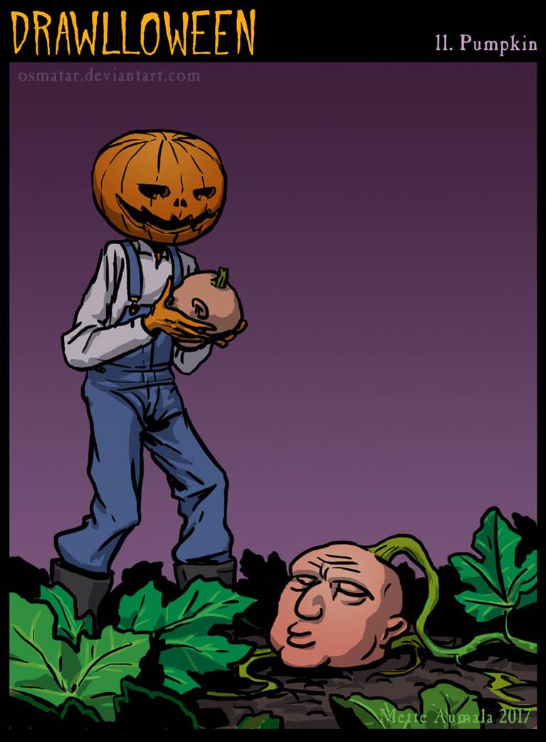 Drawlloween: Pumpkin by Osmatar