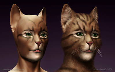 Concept for CGI makeup for Cats