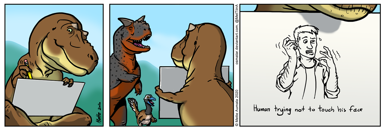 T. rex trying to capitalize on Covid-19