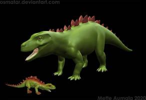 Dinovember: Pseudostegosuchus WIP
