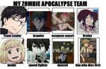 Ao no Exorcist Zombie Apocalypse Team