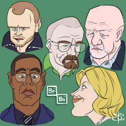 Breaking Bad Characters by capsulefrog