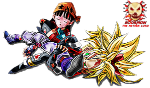 Dragon Ball Pan Vs Note (Leg Lock)