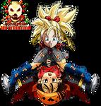 Dragon Ball Pan Vs Note (Power Bomb)