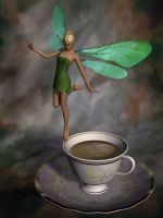 Coffee Fairy By Stronghands07-d9l64r7 by PleaseImJustaGirl
