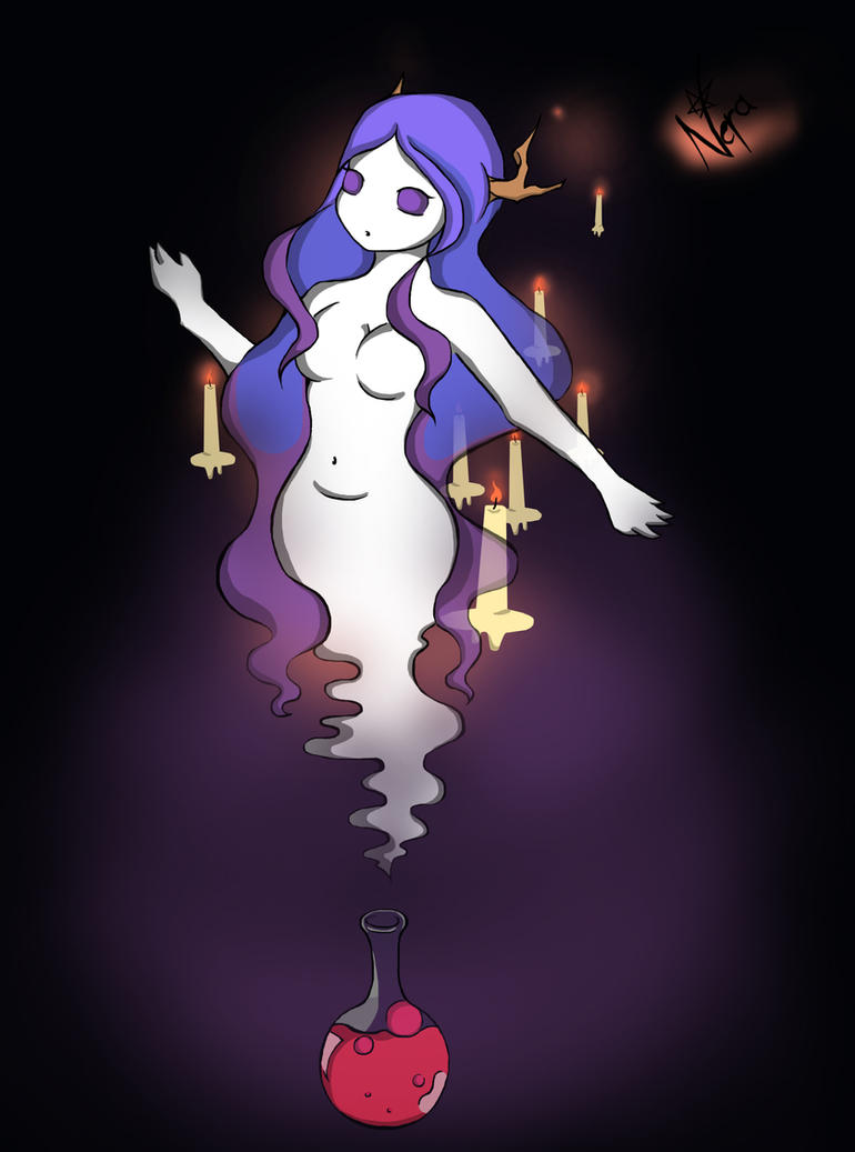 Wispy smoke girl by nera-skygoat