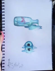 Watercolour water doodles by nera-skygoat
