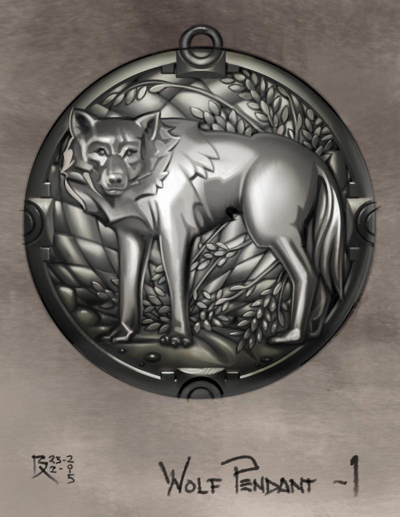 Wolf Pendant 1 by Bartoleum