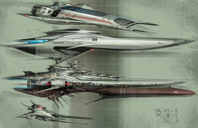 SHIP STUDIES by Bartoleum