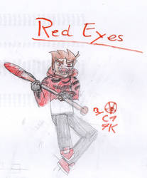 Red Eyes new version by capoeirakid77