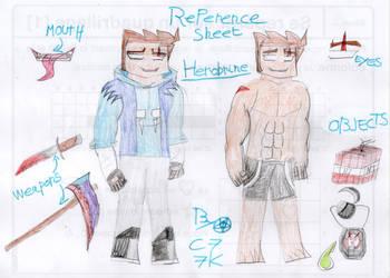 Herobrine reference sheet by capoeirakid77