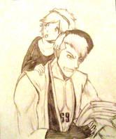 Kensei and Mashiro by kiephra