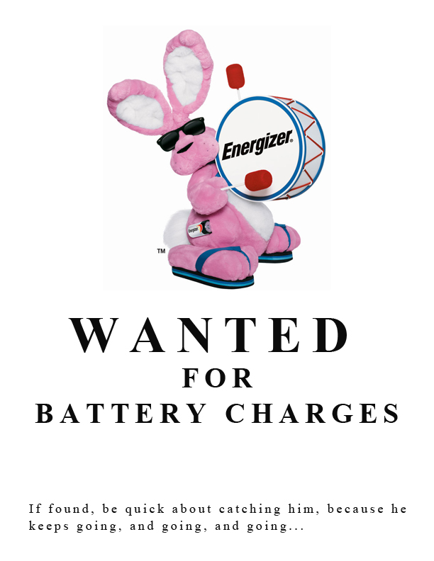 Energizer Bunny Wanted Poster by kyrptonia on DeviantArt