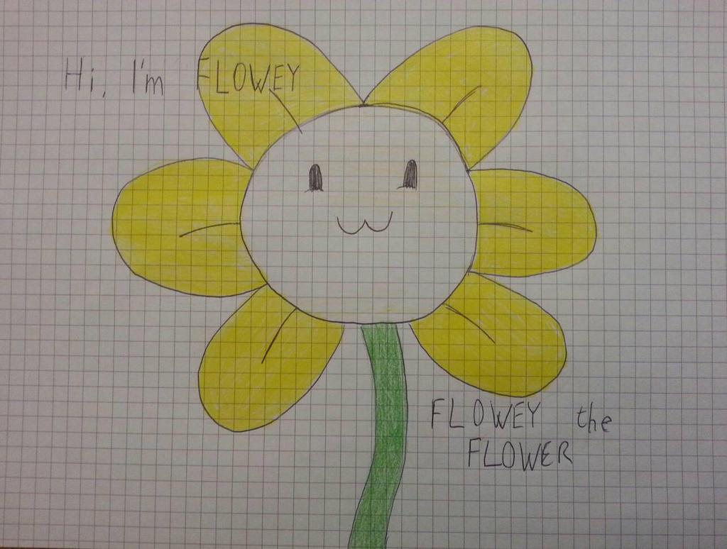 Undertale Flowey the Flower drawing by Smashfanful on DeviantArt