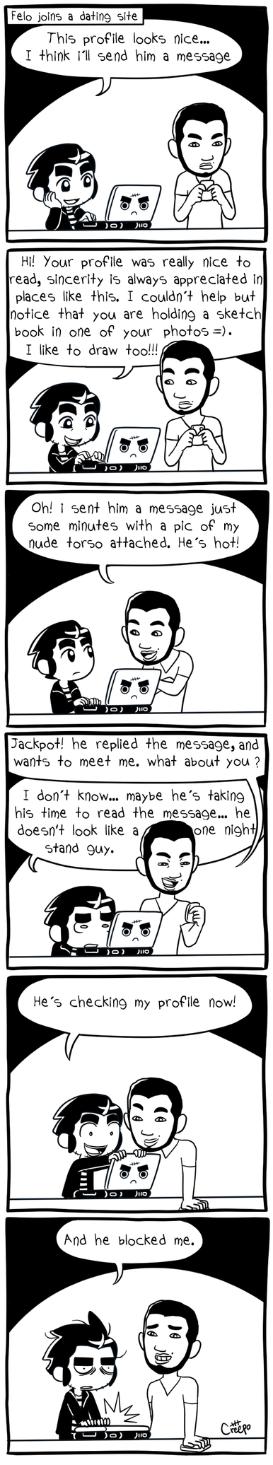 Dating for creeps comic deviantart