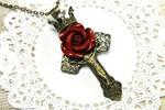 Rosarium Cross Necklace