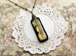 Encased Violin Necklace