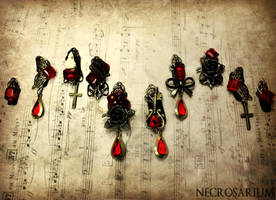 Jeweled Gothic Visual Kei Nails