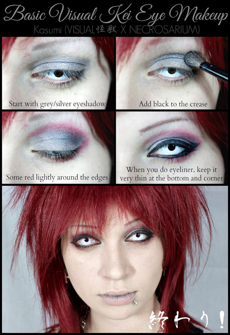 Simple Visual Kei Eye Makeup Tutorial By Necrosarium On Deviantart