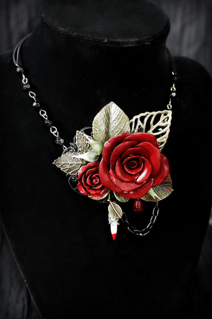 Rosarium Necklace 13 by Necrosarium
