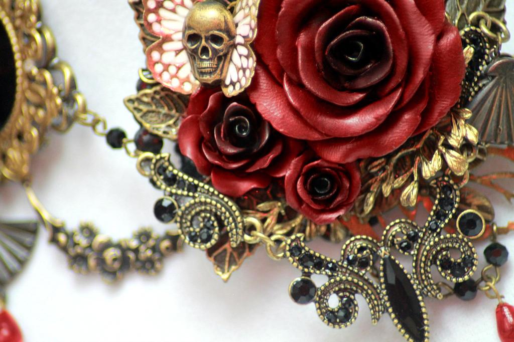 Versailles Rose Necklace 1 Detail 1 by Necrosarium