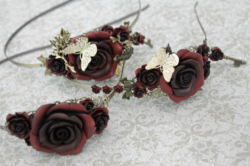 Versailles Rose Headbands by Necrosarium