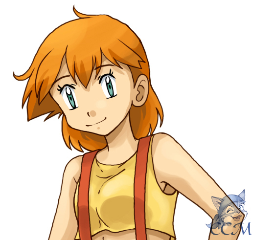 Misty: Hair down by MiasOtherFanart