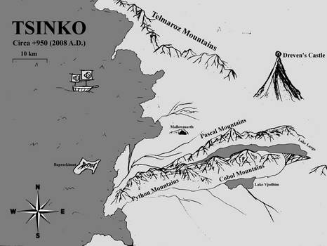 Map of Tsinko