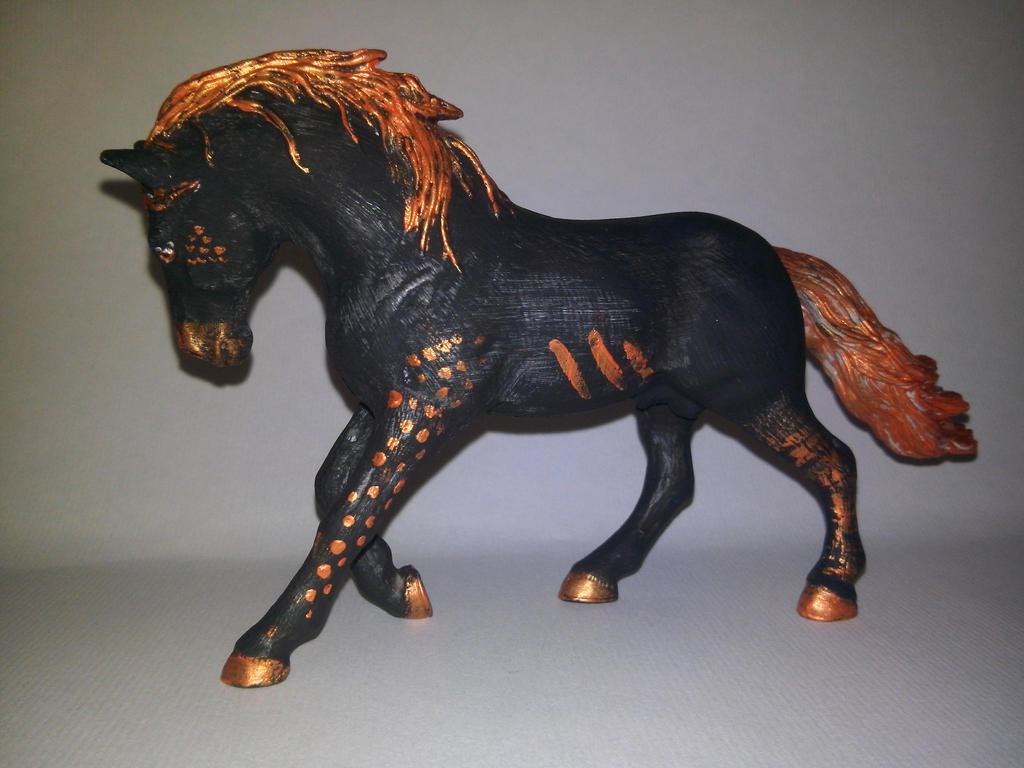 Schleich Horse Repaint Left Side Vulkanus By Sufaria On