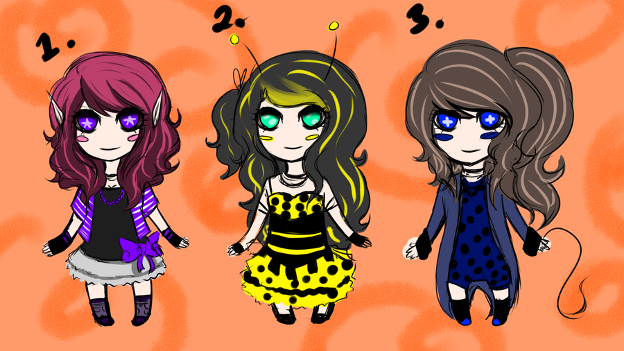 Adoptables: All Opened by Lolalilacs