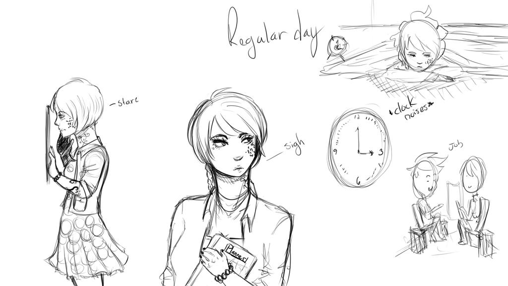 TG: Regular boring day by Lolalilacs