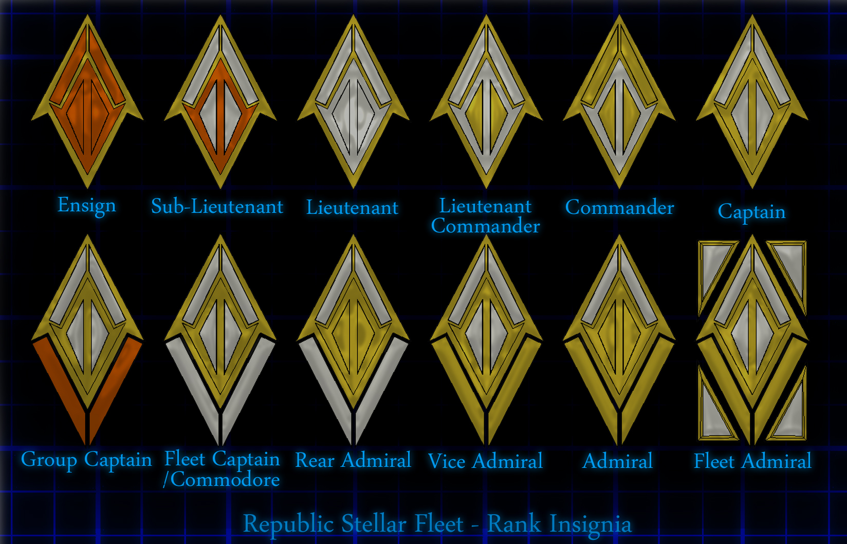 2d human republic rank insignia larger image these are the rank insignia buycottarizona Image collections