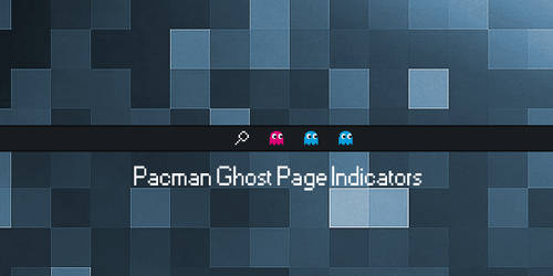 Pacman Ghost Page Indicators