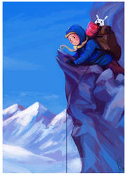 Tintin au Tibet by Baygel