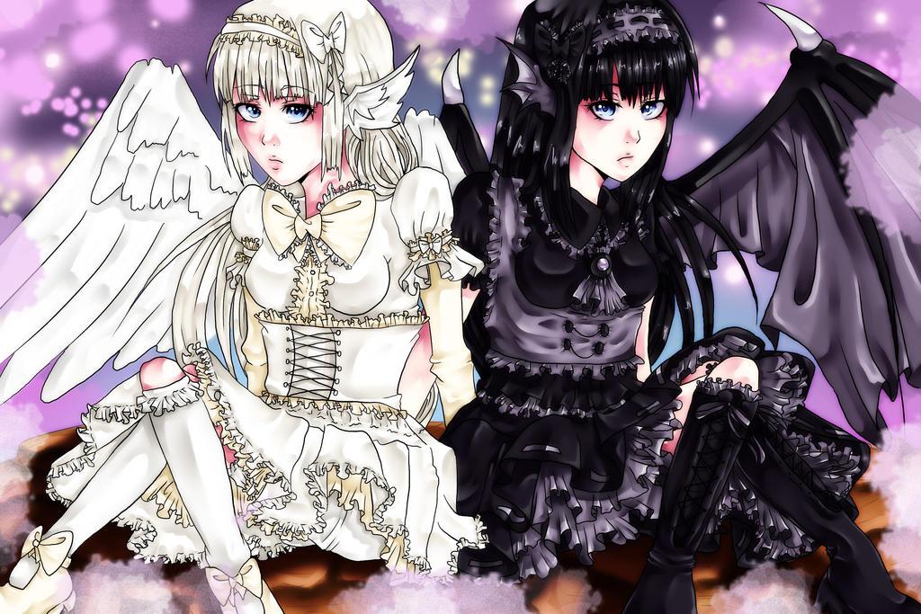 Tenshisuki and Akuzouo by KiraJansSheinux