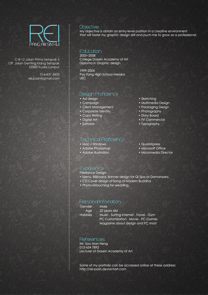 30 beautiful designer u2019s one page resume samples  u2013 the