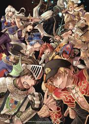 Ragnarok Online Guild war illustration by grandyoukan