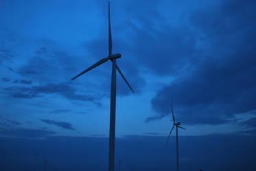 Blue Turbines by Blacksand459