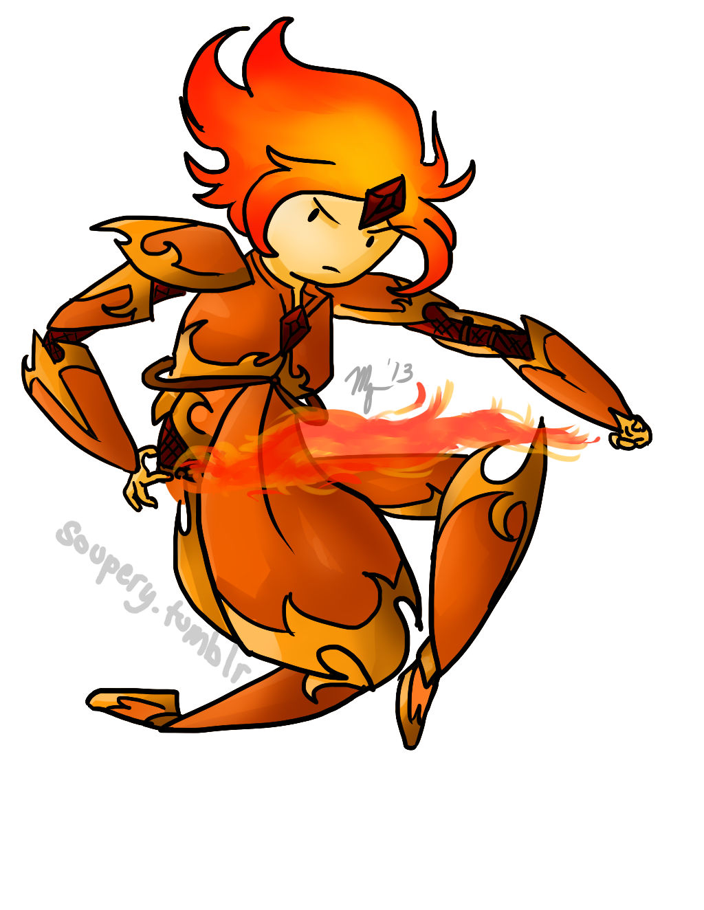 AT Armory- Flame Princess by Moniqnieva